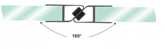 Фурнитура для стеклянного ограждения в душевую №2